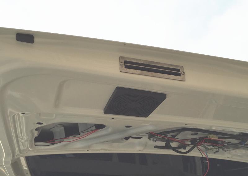 ベンチレーターで室内の空気を強制排気